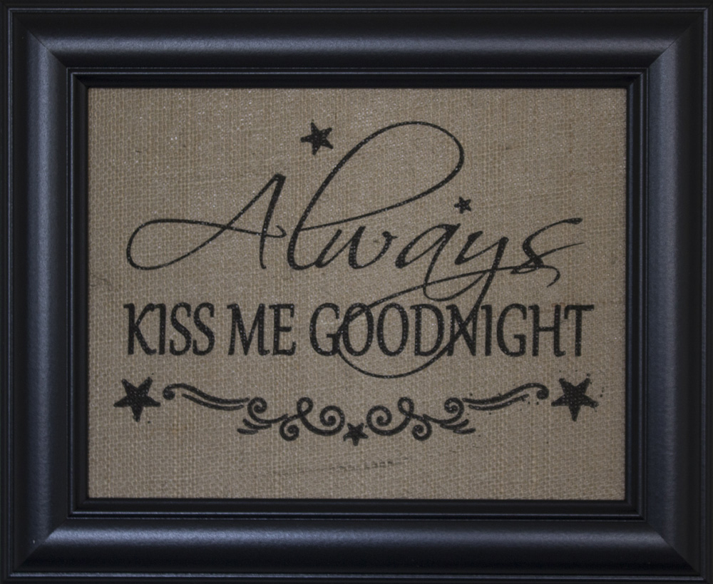 Always Kiss me Goodnight – BEECHDALE FRAMES